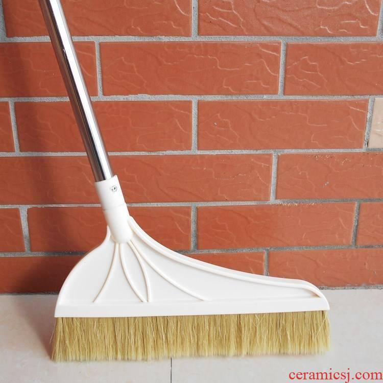 Wood floor tile is special pure pig manee manee tail single fur broom broom broom stainless steel rod