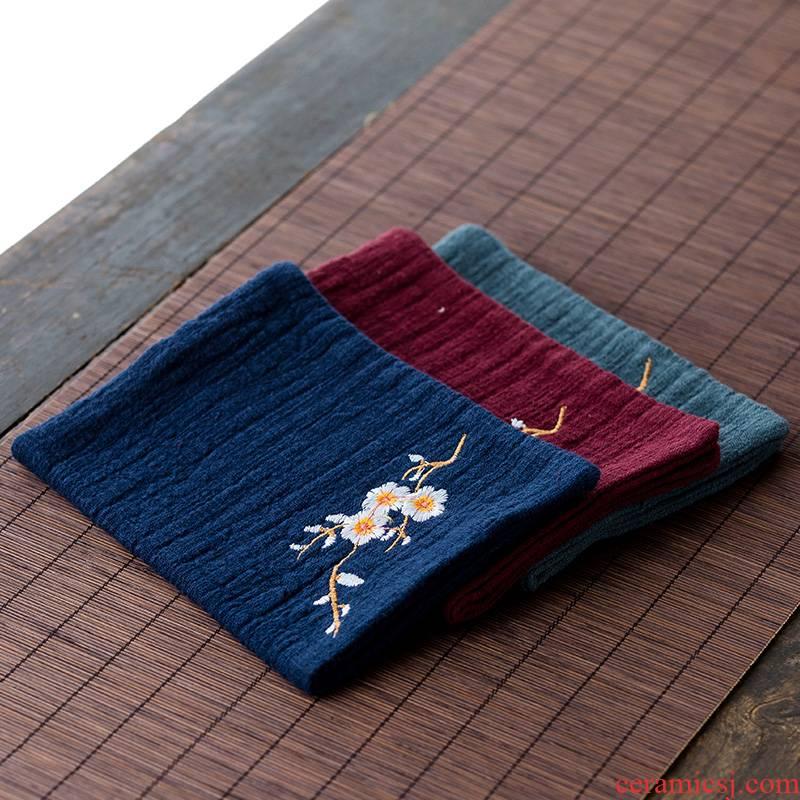 Tea towels high - grade Tea Tea cloth tablecloth zen kung fu Tea Tea accessories special cloth cotton and linen China wind restoring ancient ways