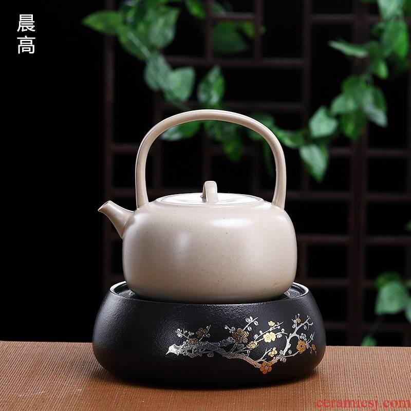 Morning high ceramic large household electrical TaoLu boil water jug white clay pot of boiling kettle girder tea kettle