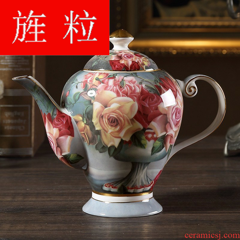 Continuous grain of classical rose European - style ipads porcelain coffeepot hand household kettle pot British ceramic teapot red flower