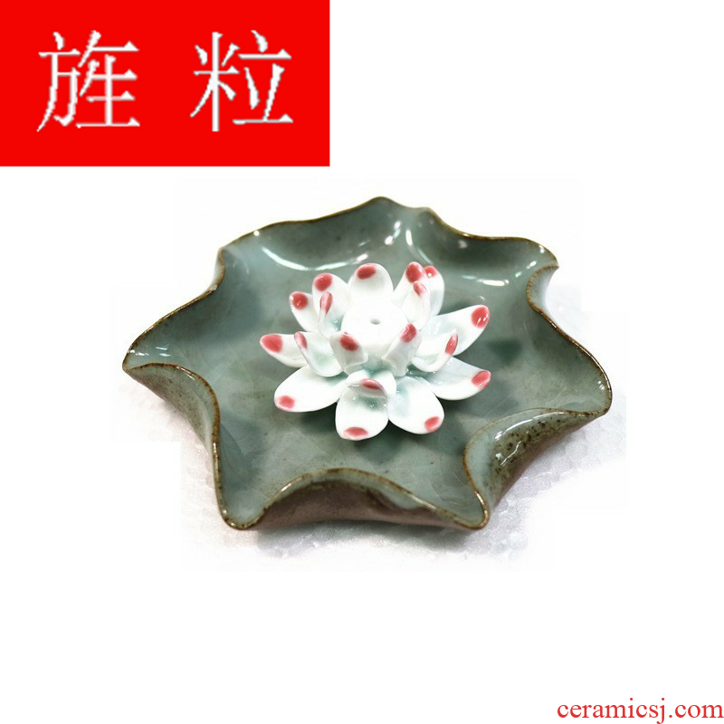 Continuous grain of familiar lotus furnishing articles boutique tea tea to keep checking ceramic tea play zen lotus tea pet tea sets
