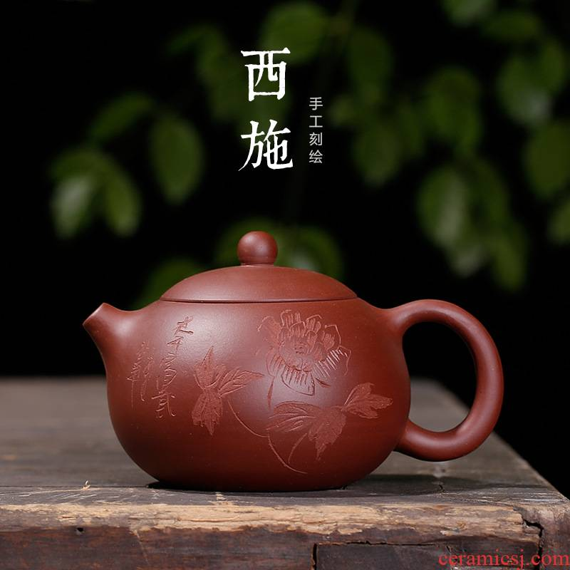 Xu mo ore shih purple clay pot large number yixing purple clay teapots blooming flowers single pot of tea, can keep