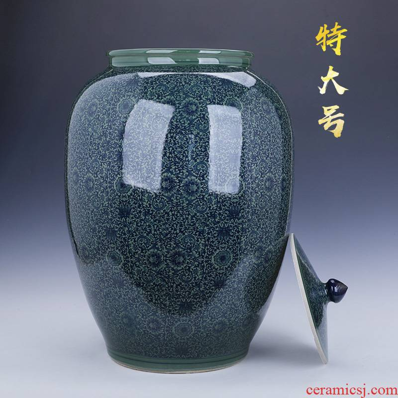 Chinese jingdezhen ceramics oversized caddy fixings furnishing articles household act the role ofing is tasted landing puer tea cake store tea urn