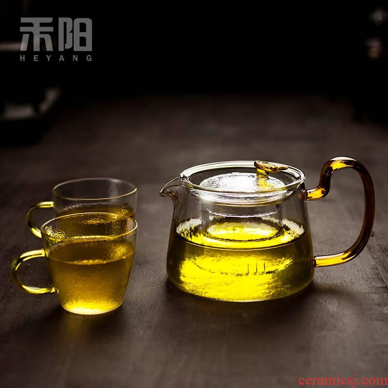 Send Yang is the home of the filter tea hammer glass teapot refractory glass teapot tea tea set