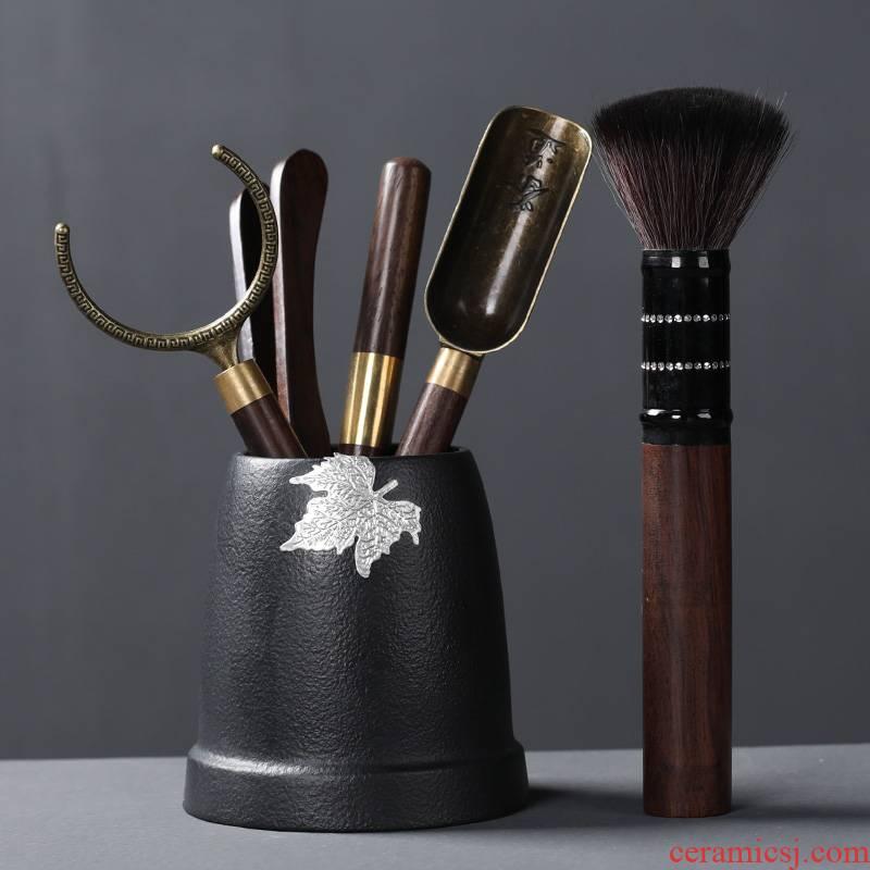 Tea six gentleman 's suit kung fu Tea accessories ChaGa Tea tongs tweezers teaspoons ChaZhen YangHuBi brush