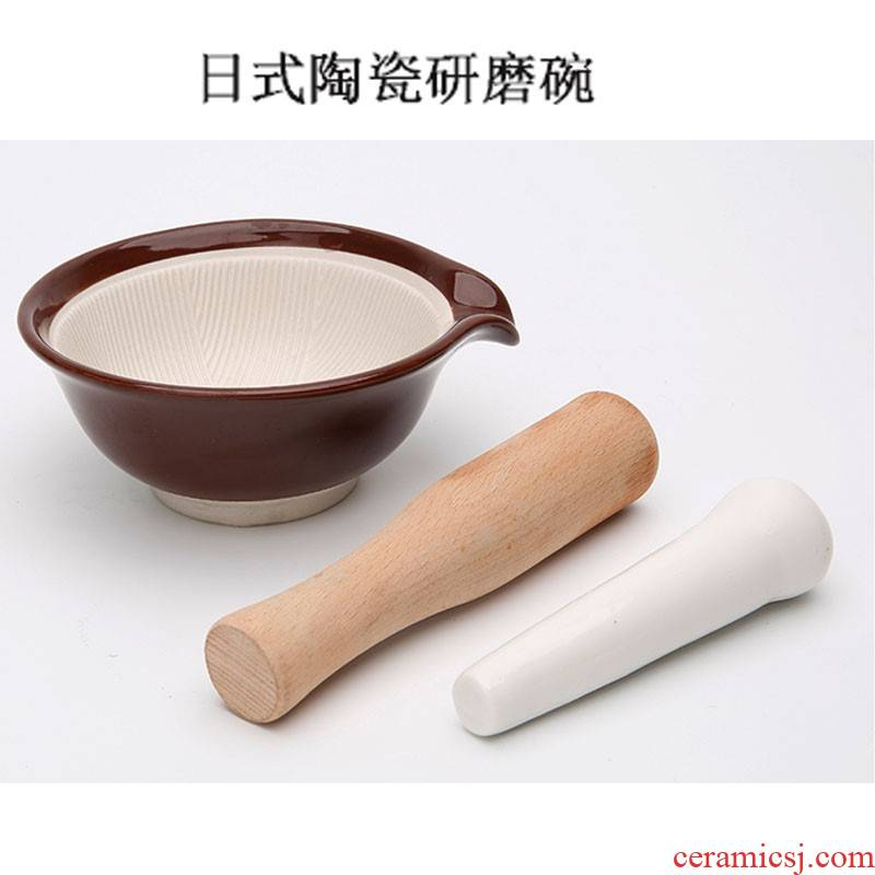 Baby's Baby's tool ceramic grinding grinding bowl bowl grinding manual rice paste pot puree the food machine