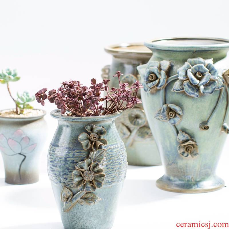 European home decoration ceramic vase furnishing articles home sitting room tea table dry flower arranging flowers TV cabinet table decoration