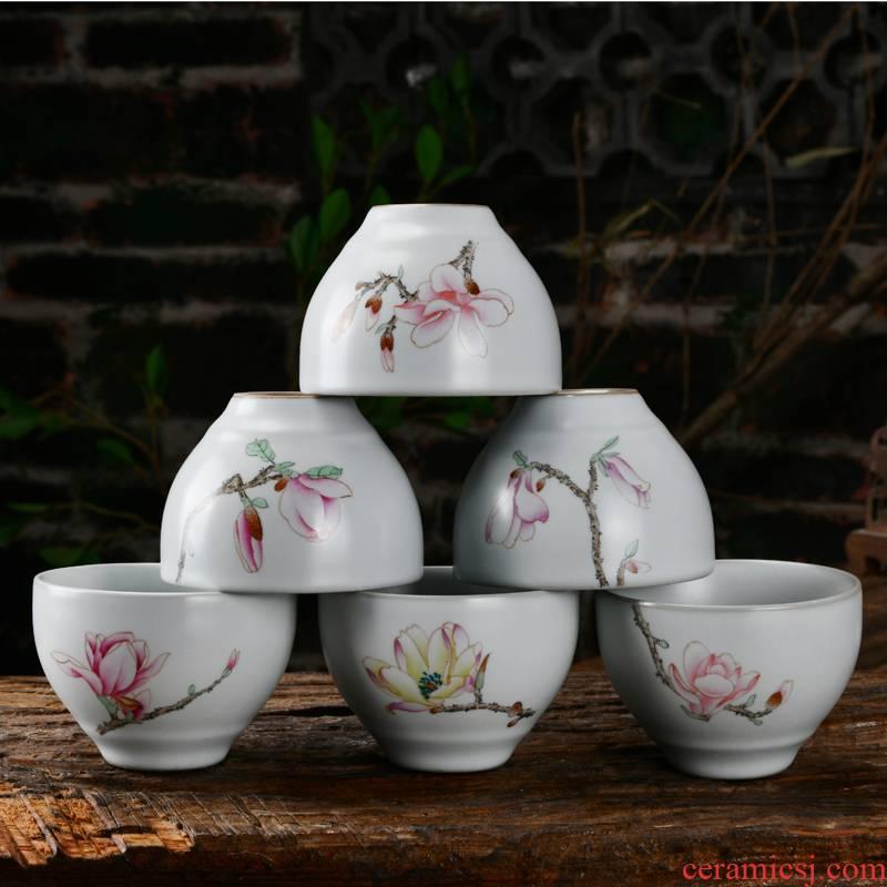 Xu ink your up hand - made use koubei sample tea cup masters cup tea cups dehua kung fu tea set ceramic cup