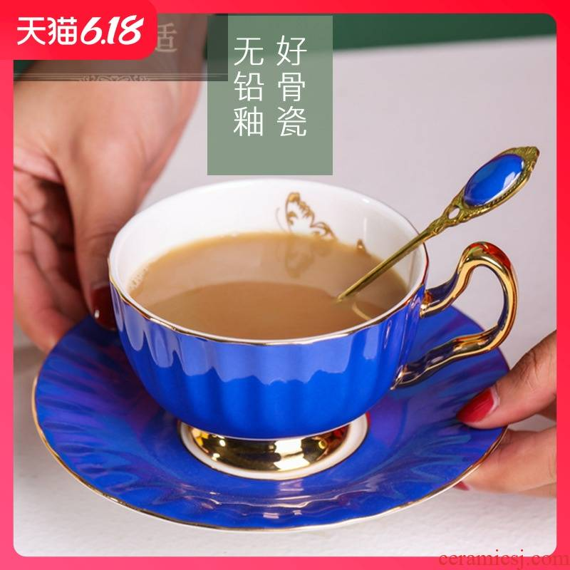 Guest comfortable creative resistant ceramic coffee cups and saucers suit household ipads porcelain teacup marca color dragon male in the afternoon