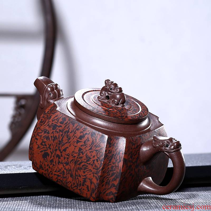 Four - walled yard high - end undressed ore violet arenaceous 540 cc teapot pure manual 12 classic pot teapot household gifts single pot hole