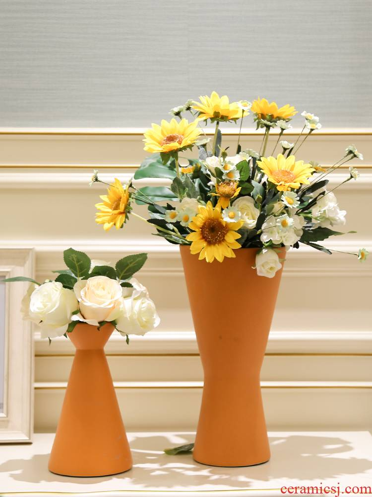 I and contracted light decoration key-2 luxury ceramic vase mesa simulation flowers, artificial flowers decorate the sitting room between example villa