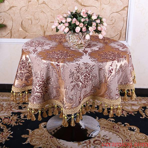 Round table cloth home values emperor European household chenille, antependium big tea table cloth tablecloth table cloth bay