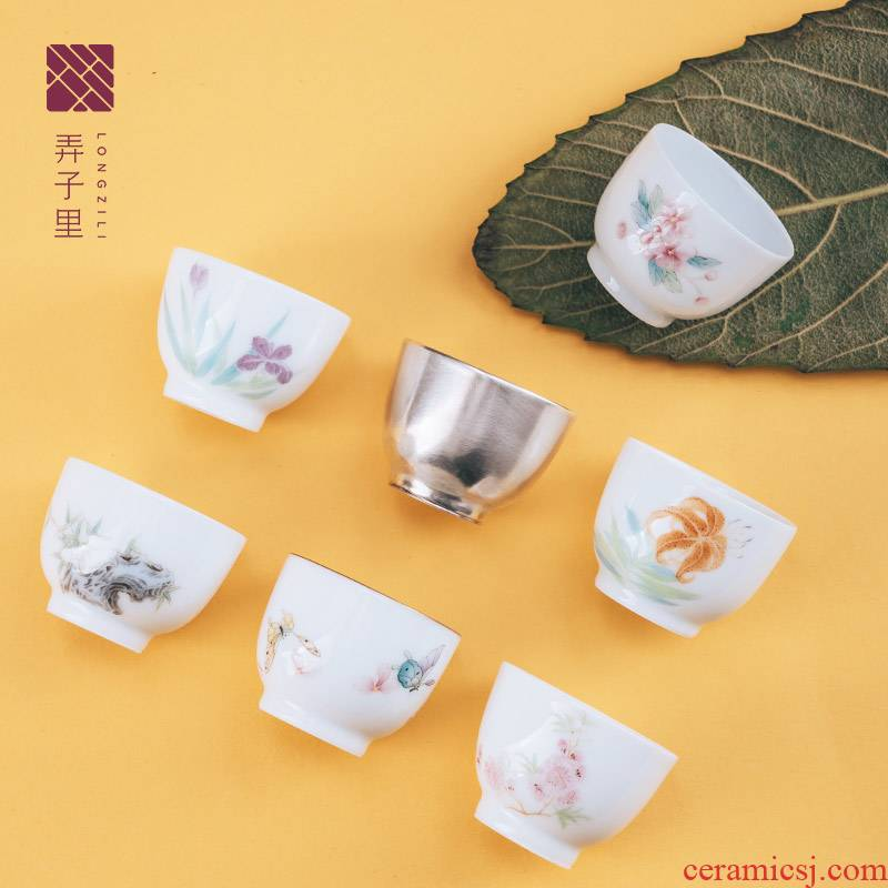Lane. Jingdezhen manual hand draw a keller sample tea cup set single fir special delicious series rock tea