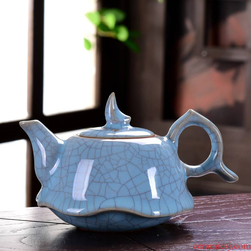 Restoring ancient ways of ink your up ceramic kung fu tea pot cracked ice tea keeps open piece of make tea, single pot of household size