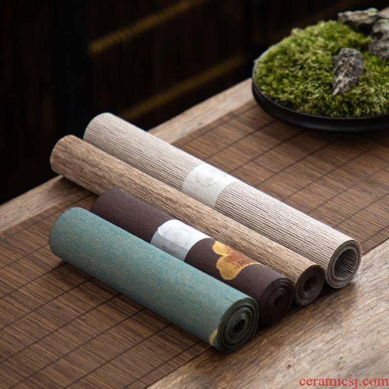 Old &, waterproof fabric tea table mat flag Japanese tea cloth mat zen tea tray MATS tea accessories