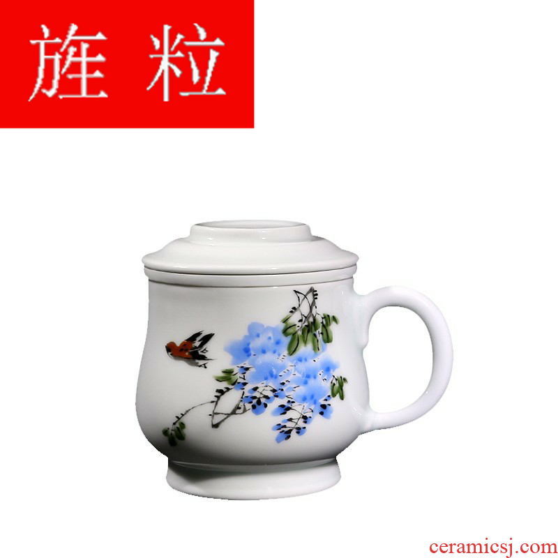 The Master of continuous grain porcelain made cups of jingdezhen ceramic tea set filter with cover tea cup business office
