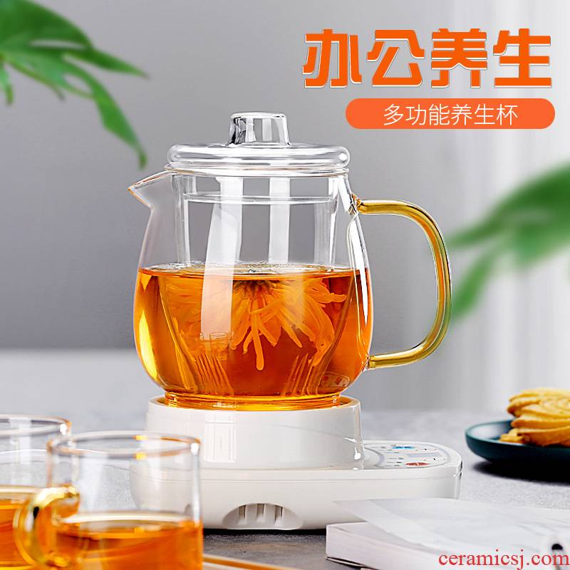 Really hold English afternoon fruit with thick glass domestic high - temperature tea sets curing pot of belt filter to boil