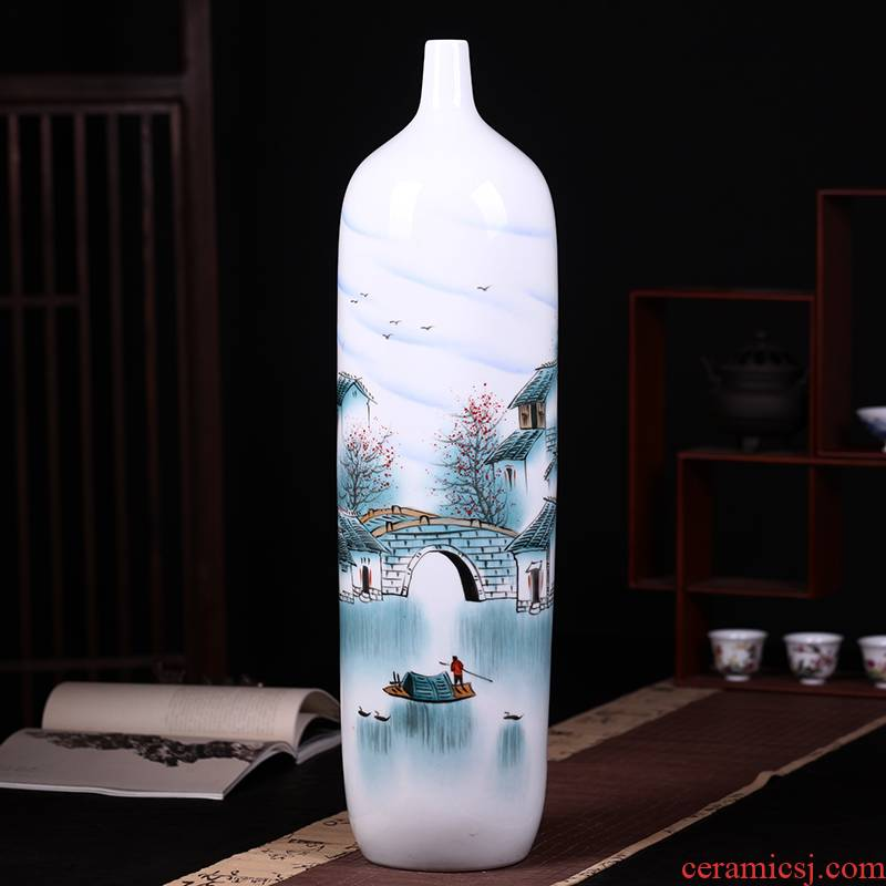 Jingdezhen classical large Chinese vase furnishing articles furnishing articles living room 80 cm tall vases, ceramic decoration