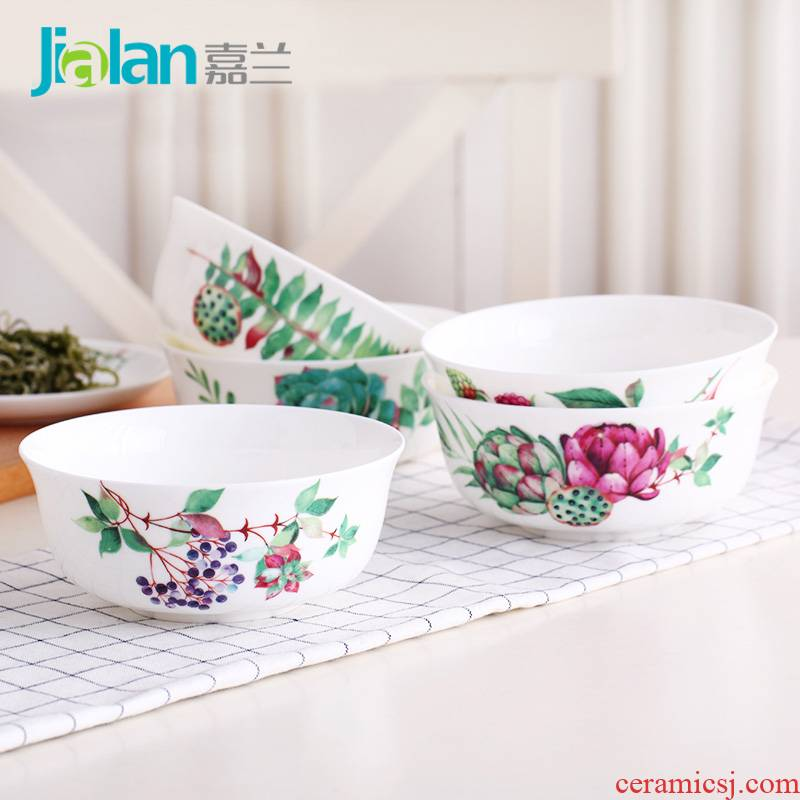 Garland ipads China large creative eat rice bowls, fleshy rainbow such use ceramic porridge soup bowl five inches small household rainbow such use