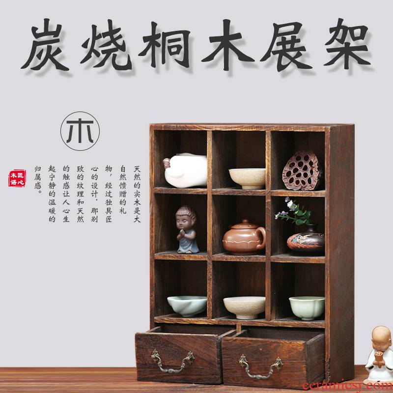 Solid wood cupholders are it to hang wall antique teapot aircraft curio cabinet cabinet shelf hanging small rich ancient frame