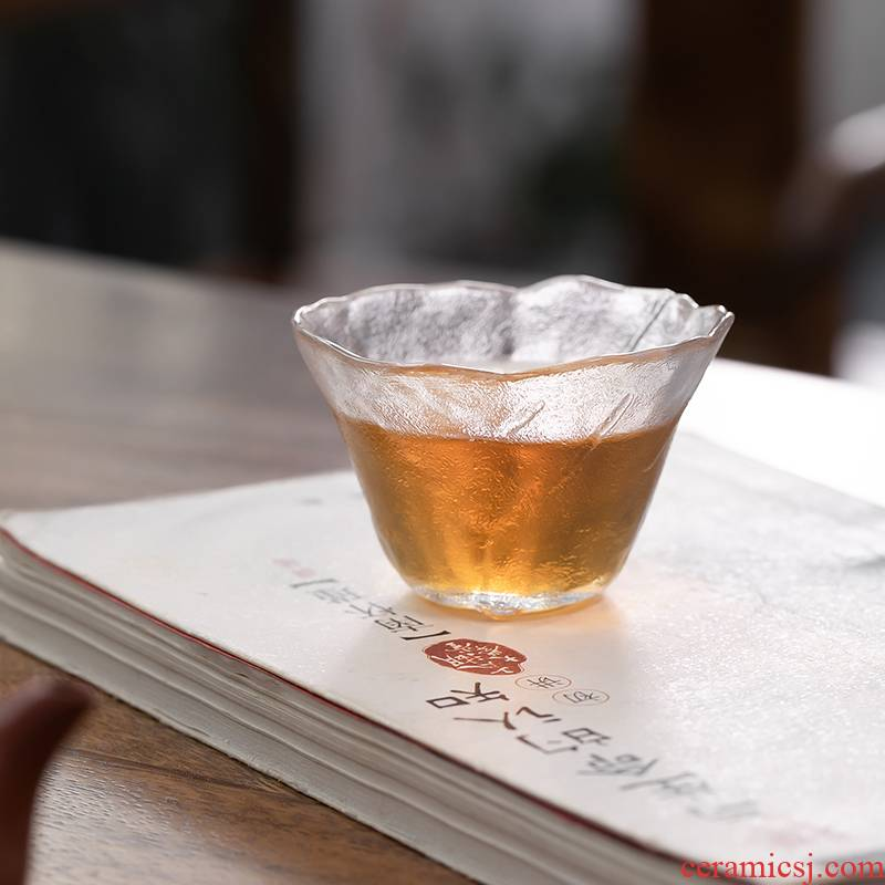 Fujian and high - temperature thickening glass cup transparent sample tea cup contracted household master single CPU Japanese kung fu tea set