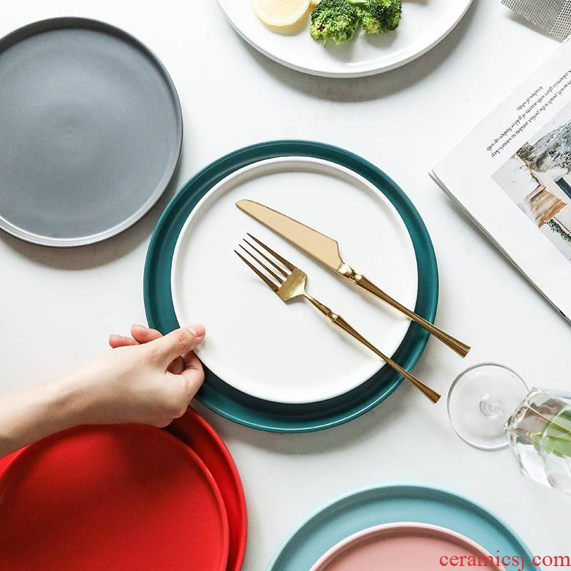 WUXIN steak dishes Nordic web celebrity suit combination dishes home creative ceramic tableware dinner plate plate