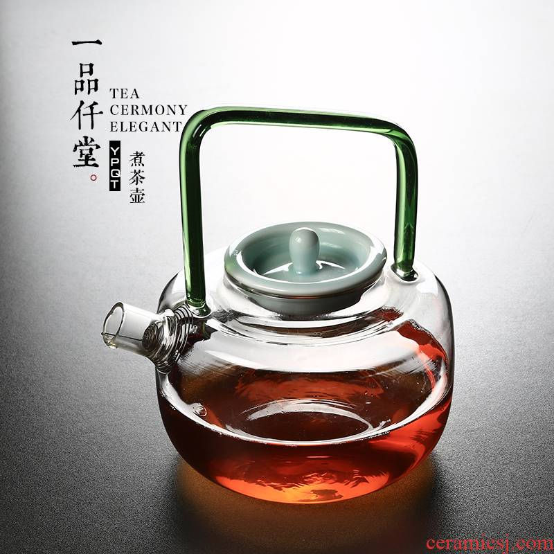 Yipin thousand hall high borosilicate glass boiling kettle girder white tea tea more heat - resistant glass tea kettle