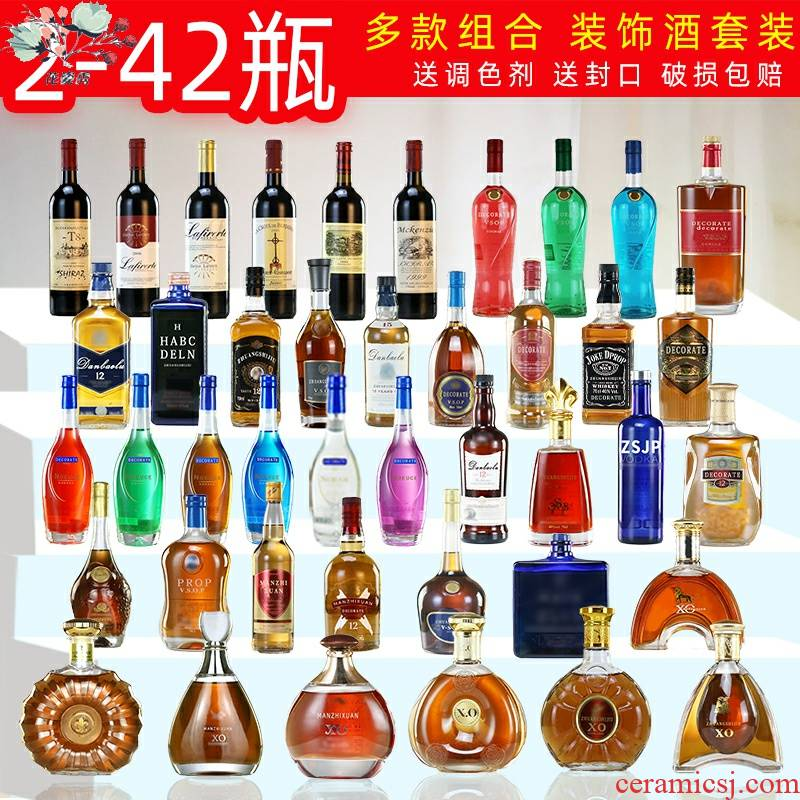 The simulation light black wine bottle of red wine bottle wine bottle decoration decoration furnishing articles wine bottle
