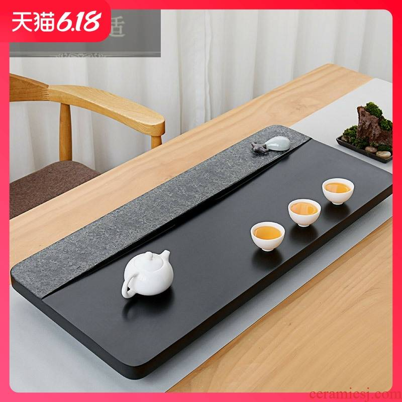 Hold to guest comfortable home office sharply large stone tea tray was kung fu tea tea sea contracted stone tea tea