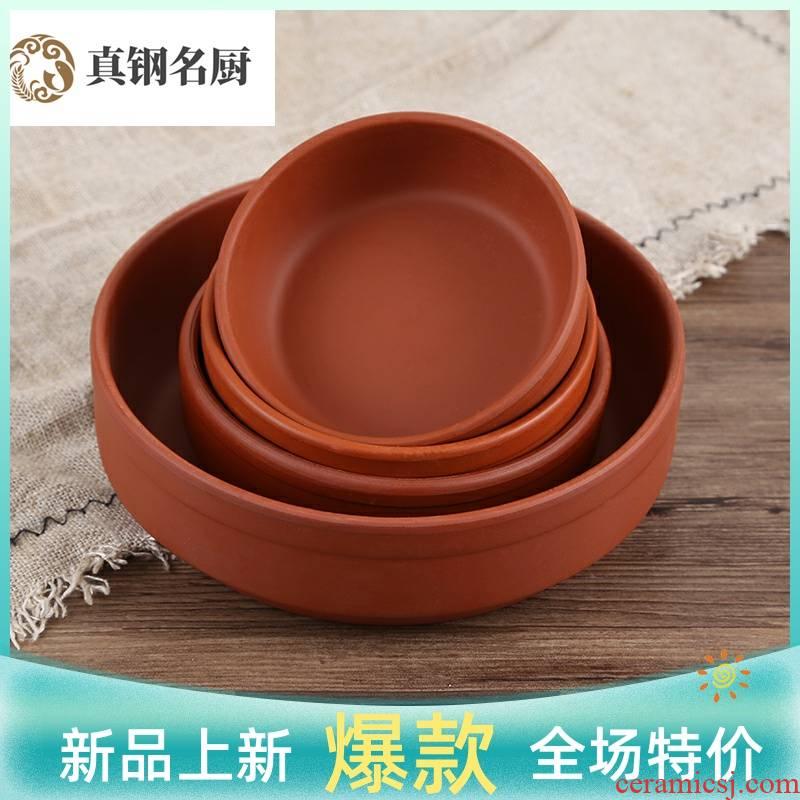 Creative restaurant food bowl of steaming ceramic bowl fantastic jug earthenware bowl ceramic bowl nostalgic prevent iron flat large move