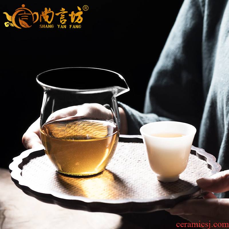 It still seems more reasonable fang glass cup tea sea hot points of tea, tea sets accessories filter and cup)