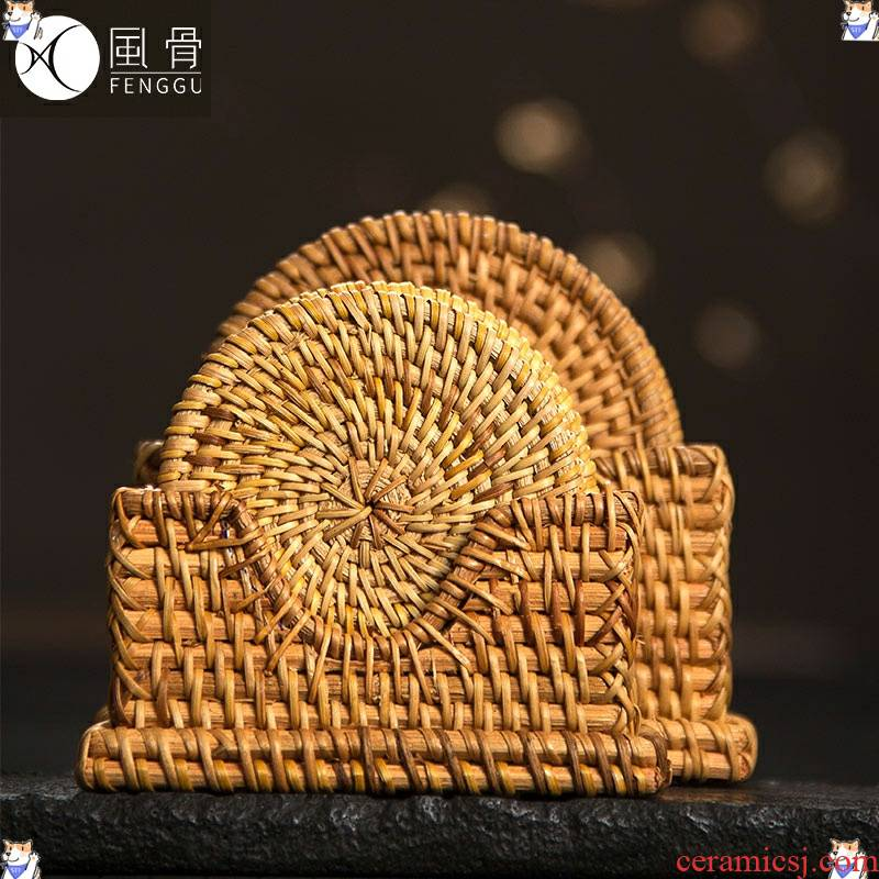 The cane top service up The cup pad mat table manually heat pot pad creative use of hot pad plate MATS kung fu tea set with zero
