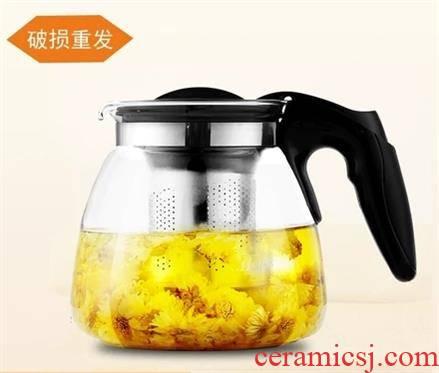 Tea machine dedicated kettle hot restaurant insulation water small rust prevention glass teapot bar Tea tank