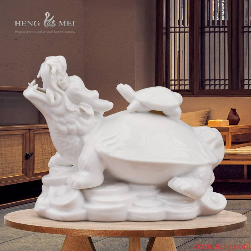 Dragon tortoise ceramic furnishing articles feng shui modern Chinese style household act the role ofing is tasted decoration decoration ceramic arts and crafts
