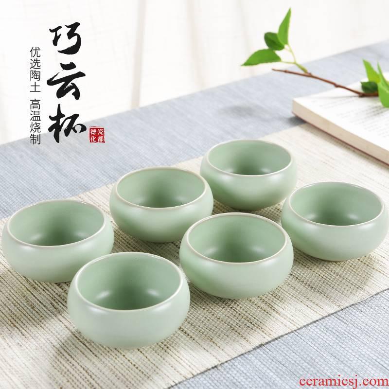 Open the slice god your up porcelain tea cups small ceramic kunfu tea tea sample tea cup, master cup teapot single CPU