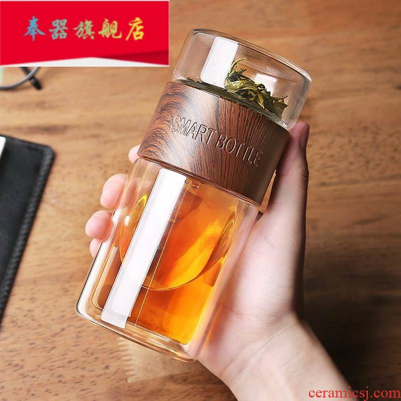 The Filter one car light the glass of water with cover portable separate fission insulation tea tea cup