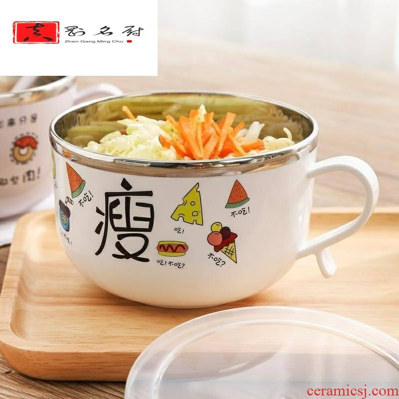 Creative multi - purpose lunch box lid couples kitchen mercifully rainbow such as bowl bowl with cover the student 's dormitory hand bowl dishes easily