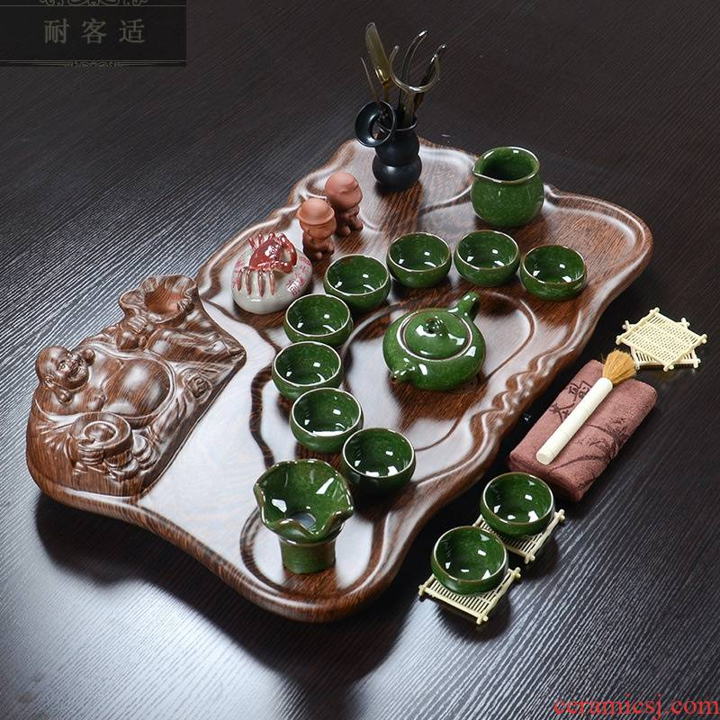 Hold to guest optimum technology wood tea tray was violet arenaceous kung fu tea set home office tea table