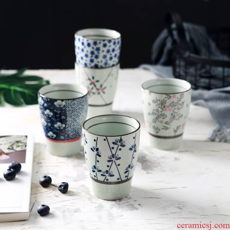 Jingdezhen ceramic keller cup Japanese female glass koubei household creative hand - made milk cup tea cups