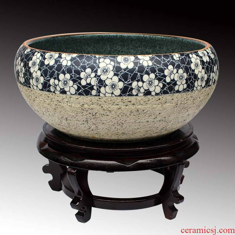Knead ceramics and household with cover face basin basin basin basin pickled fish soup without leaf mustard pot basin
