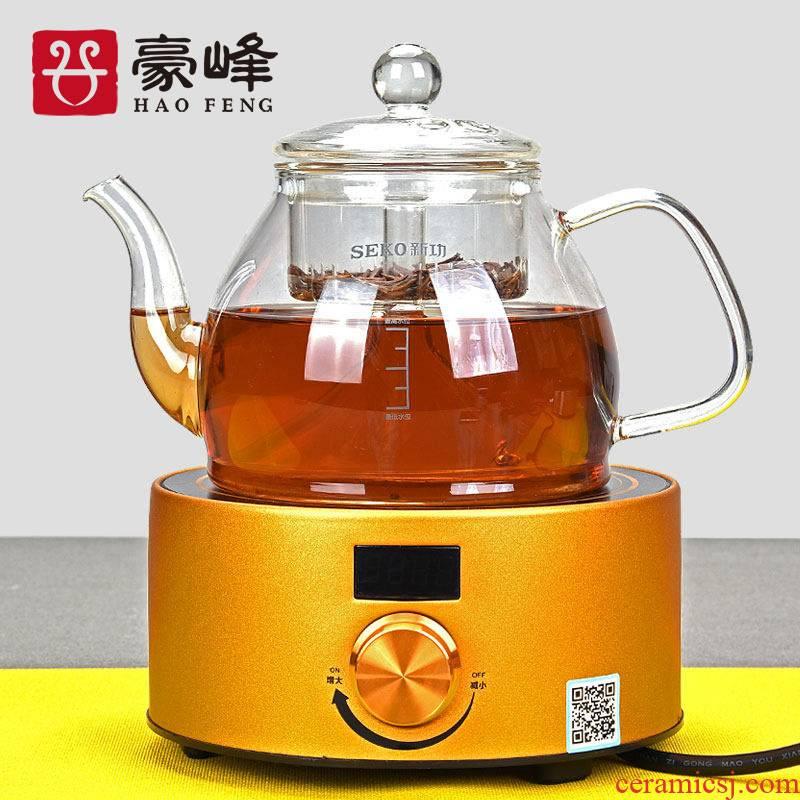 HaoFeng heat boiling pu 'er tea ware glass teapot Japanese electric kettle household kung fu tea tea drinks