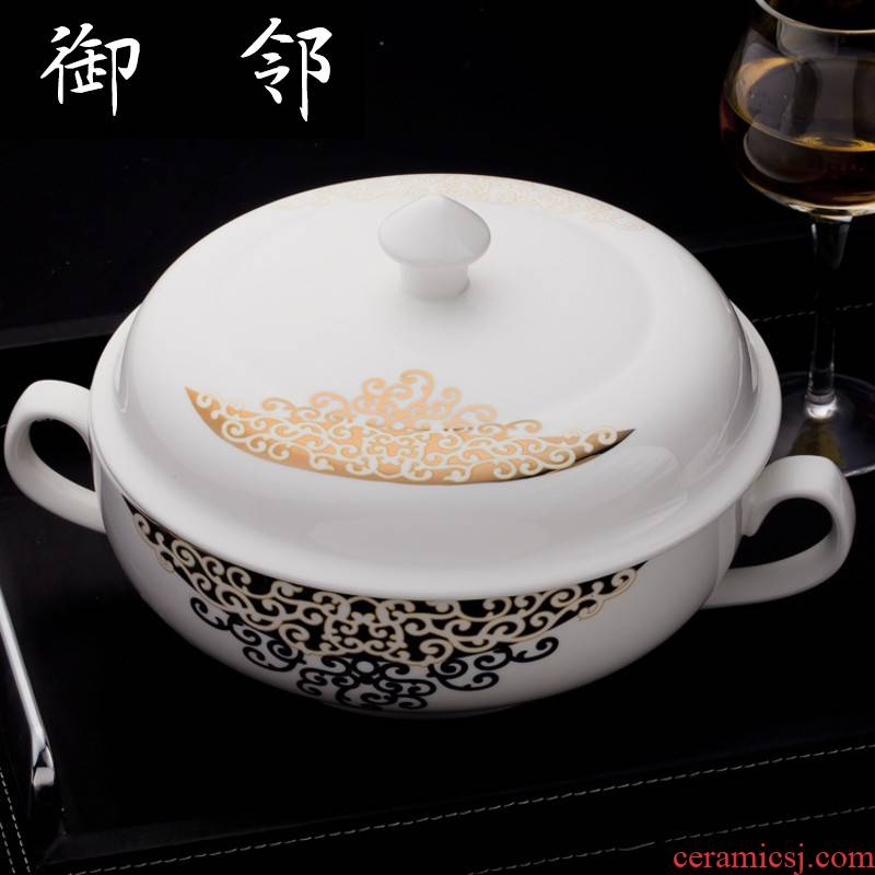 Propagated Chinese style flower dishes tableware suit feelings 56 head ipads porcelain ceramic tableware suit