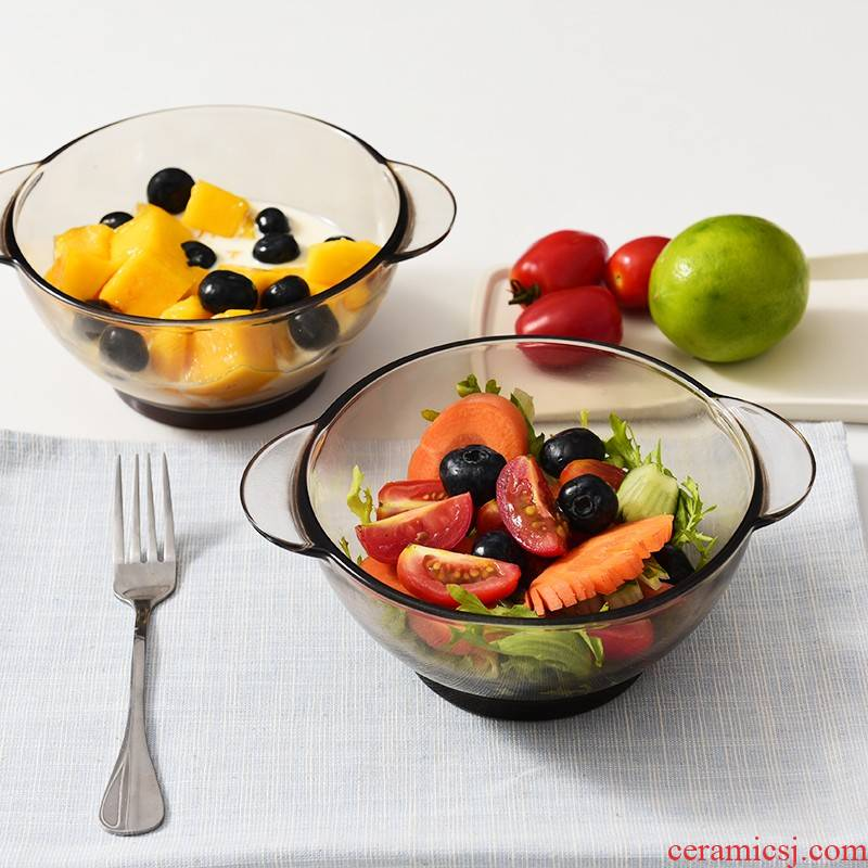 Two ears to use glass bowls of thickening tea color cereal rainbow such as bowl dessert home only. The use of fruit salad
