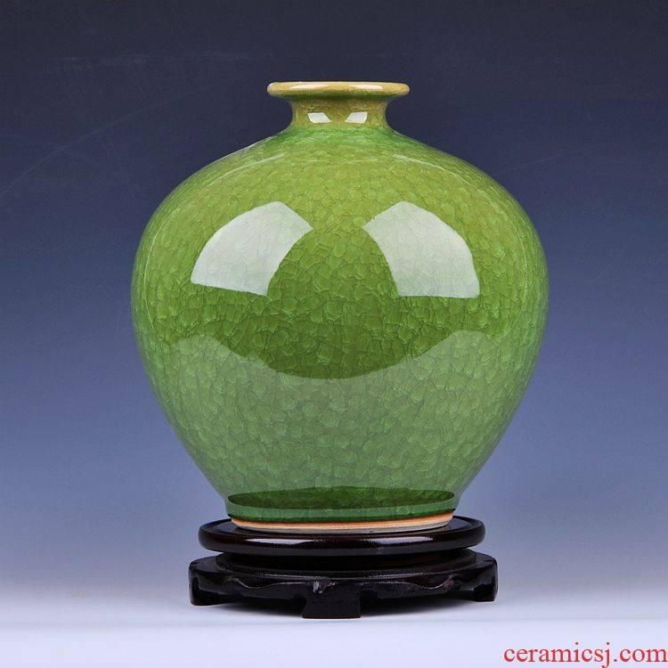 Archaize borneol jingdezhen ceramics up crack glaze pomegranate vase sitting room home decoration furnishing articles