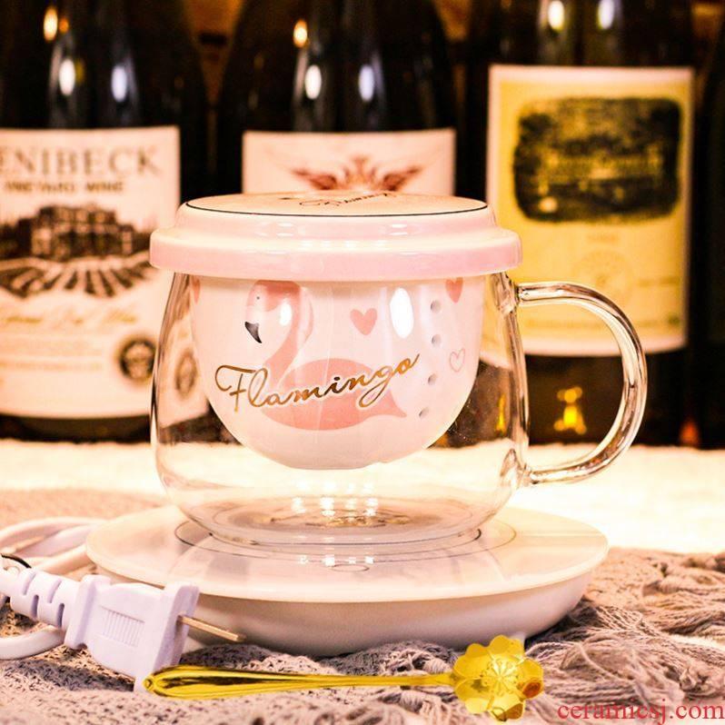 Choi pomelo web celebrity tea cups of tea upset female portable filtration separation glass glass flower cups express the idea