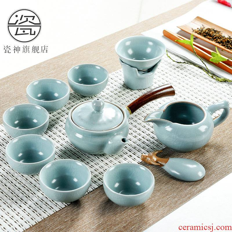 Porcelain god the glaze non - trace burn your up kung fu tea set with the ceramic teapot teacup office household gift boxes