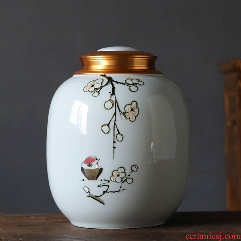 Extra large ceramic tea pot 2 jins home tea CangXi cover storage tank and the leaf tea pu 'er seal pot