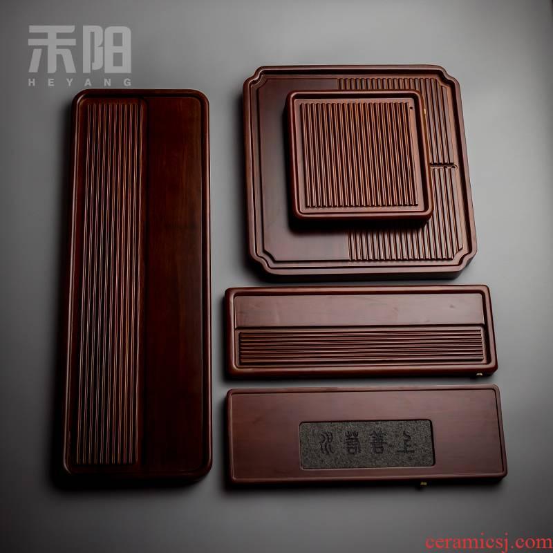 Send Yang heavy bamboo tea tray was kung fu tea saucer dish bamboo bamboo tea tray tea tea home simple imitation of bakelite