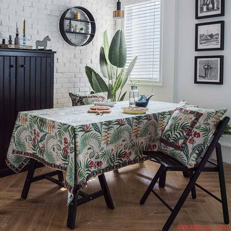 Cotton and linen tablecloth national wind value emperor rectangular table table cloth, tablecloth American tablecloth table cloth custom bay