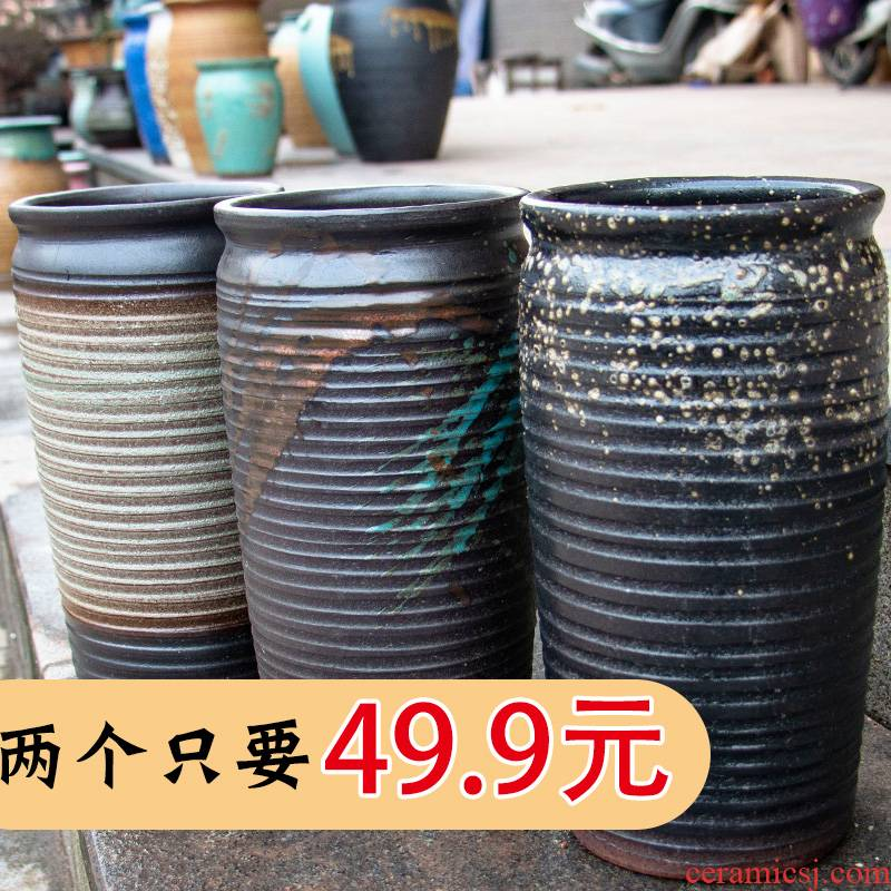 Fleshy flowerpot breathable meaty plant purple orchid extra - large ceramic POTS specials mage flowerpot courtyard Chinese rose